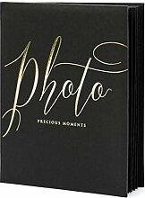 Edles Fotoalbum Fotobuch Schwarz, 40 Seiten