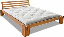 EDOFUTON Bett Basic H40 120x200 cm / Erle kirsche