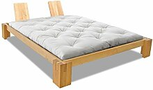 EDOFUTON Bett Basic H40 120x200 cm / Erle natur geölt / Form A