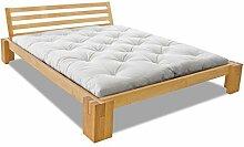 EDOFUTON Bett Basic H40 120x200 cm / Erle natur