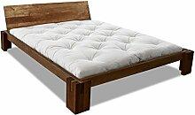 EDOFUTON Bett Basic H40 120x200 cm / Erle teak