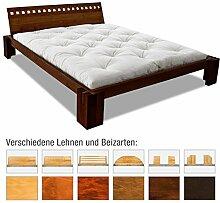 EDOFUTON Bett Basic H40 90x200 cm / Erle natur geölt / Form E