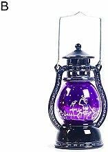 EDQZ Halloween Dekor h?ngende LED Lampe Vintage