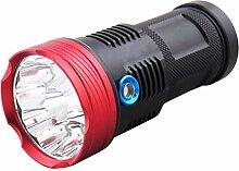 EDQZ LED Taschenlampe Extrem Hell, T6 9 LED