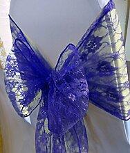 eds 90Royal Blue Lace Schleife Stuhl, Schleife Band Hochzeit Party Bankett Decor