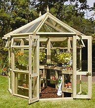 Edwardian Gewächshaus (Mittelgroß). Gartenhaus aus Holz günstig kaufen.