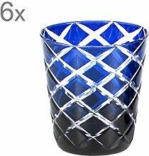 EDZARD 6er Set Kristallgläser/Teelichthalter Dio,