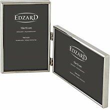 EDZARD Doppel-Fotorahmen Otto für 2 Fotos 10 x 15