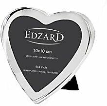 EDZARD Fotorahmen Bilderrahmen Herz für Foto 10 x