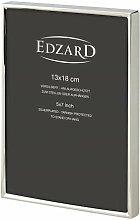 EDZARD Fotorahmen Otto für Foto 13 x 18 cm edel