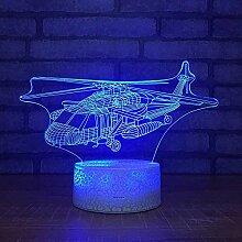 Eeayyygch 3D Illusion LED Nachtlicht, 3D Lampe