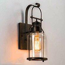 Eeayyygch Dachboden Glas Wand Lampe Retro