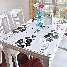 Eeayyygch PVC-Weichglas-Tischdecke, Tischdecke,
