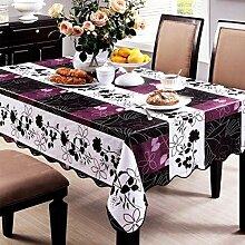 Eeayyygch Tischdecke aus PVC, wasserfest, für