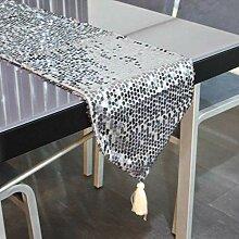 Eeayyygch Tischläufer/Pailletten-Tischläufer, 30