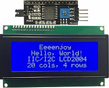 eeenjoy I2C 2004LCD Modul IIC/I2C/TWI Serial Interface, weiß auf blau 20x 4Zeichen LCD-Display für Arduino UNO R3Mega2560Raspberry Pi