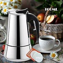 EEX Espressokocher Kaffeekocher aus 304 Edelstahl