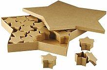 efco 2634616 Pappe Boxen Set, 6 x 6 x 4 cm, braun
