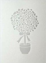 efco Blumen Schablone in 1Design, Kunststoff,