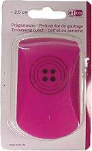 efco Button Round Prägestanzer, Pink, 25mm