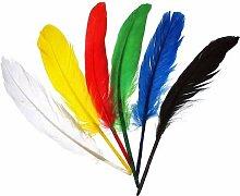 efco Federn Indianerfedern, Mehrfarbig,