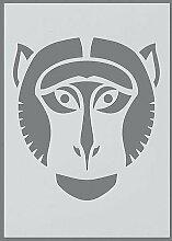 efco Monkey Schablone in 1Design, Kunststoff,