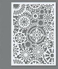 efco Schablone, Blätter-Design, Kunststoff, A5,