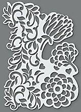 efco Schablone Blüten/1Design DIN, Kunststoff,
