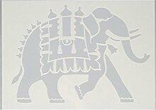 efco Schablone Elefant/1Design DIN, Kunststoff,