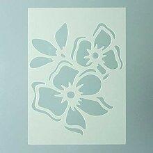 efco Schablone Flower/1Design Din, Kunststoff,
