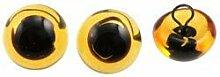 EFCO- Tieraugen Glas mit Öse 6 mm 2 Stücke gelb