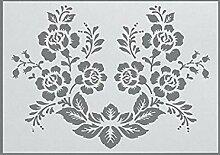 efco Wild Rose Schablone in 1Design, Kunststoff,