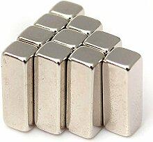 eFeel (10Stück) Starke Block Bar Neodym 15mm x 5mm x 5mm, länglich, die Neo DIY Craft Starke Rare Earth NdFeB Magnete