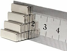 eFeel (10Stück) starker Block Bar Neodym 15mm x 8mm x 2mm Neo DIY Craft Strong Rare Earth NdFeB Magnete