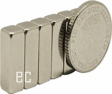 eFeel (5Stück) Starke Block Bar Neodym 15mm x 5mm x 5mm, länglich, die Neo DIY Craft Starke Rare Earth NdFeB Magnete