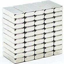 eFeel (50Stück) starker Block Bar Neodym 13mm Länge x 5mm Breite x 3mm Dicke Neo DIY Craft Business Industrie Starke Rare Earth NdFeB Magnete