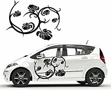 Efeu Ranken Autotattoo Florale Designs Blumen Muster Aufkleber Sticker Dekoration Blüten |KB348