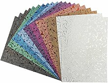 Effekt-Papier, Floral-Design, metallic, DIN A4,