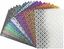 Effekt-Papier, Rosen-Design, metallic, DIN A4,