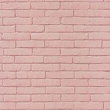 Effekt Tapete Ziegel Pastell Rosa 3d realistisch