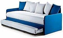 Effetto Casa Bett/Sofabett, modern mit herausnehmbarem Lattenrost. Matratzen inklusive, Oberstoff abnehmbar