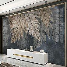 EFGHK 3D Wohnzimmer Wandbild Pflanze Blatt