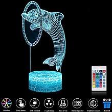 EFGS 3D Night Light Touch Tischlampe, 7