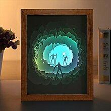 EFGS 3D Papier Skulptur Lampe, Silhouette