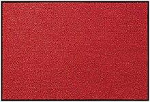Efia Salonloewe Fußmatte Wohnmatteuni rot waschbar Badmatte Bettvorleger Teppich SLD0800