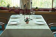 eflonbeschichtet Tischdecke eckig mit Bleiband im Saum, Teflonbeschichtet in Designs:Iris, grün Maß: 110x150