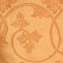 eflonbeschichtete Tischdecke rund mit Bleiband im Saum, teflonbeschichtet, in Designs:Classic, apricot-aprikose Durchmesser: 170 cm