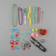 EFORCAR Grund Nähen Stricken Häkeln Werkzeuge Zubehör Zubehör mit Fall Knit Kit Lots