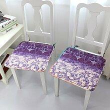 EFRC Garten Jahreszeiten dünne Baumwolle Stoff gleiten Stuhl Kissen schmutzabweisend Baumwolle Büro Esszimmer Stuhl Kissen,5