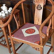 EFRC Massivem Holz Mahagoni Sofakissen Bürostuhl mat Auto einfache Leinen Esszimmer Stuhl Sitzbezüge,5
